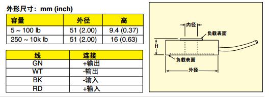 LC8200稱重傳感器 尺寸