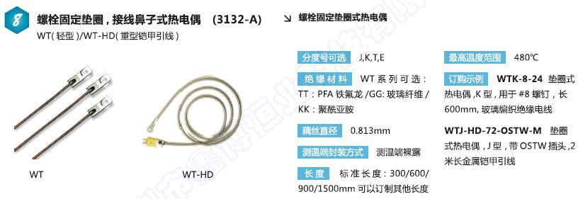 WT螺栓固定垫圈式热电偶|接线鼻子热电偶