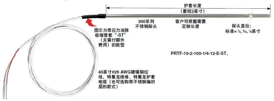 PRTF-10 PFA特氟龍絕緣輸出引線
