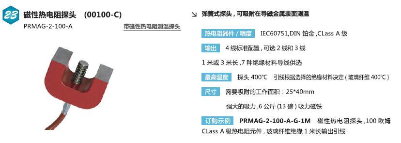 PRMAG-2帶磁性熱電阻傳感器