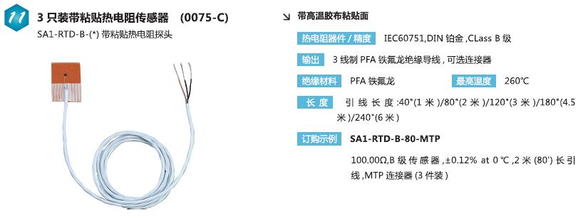SA1-RTD-B带粘贴热电阻传感器|B级精度