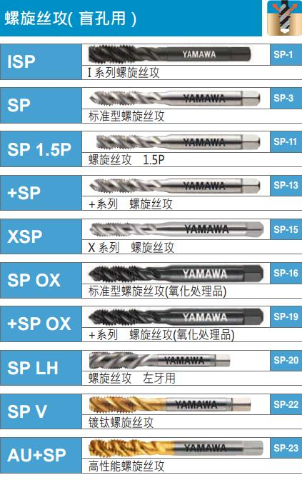yamawa螺旋丝攻锥-韦德科技(深圳)有限公司0755-26656615