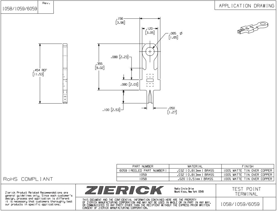 ZIERICK测试端子_连接端子_连接器1058_技术应用图_韦德科技(深圳)有限公司0755-2665 6615