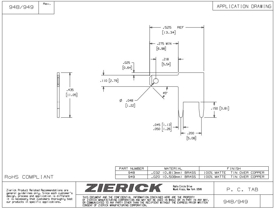 ZIERICK测试端子_连接端子_连接器948_技术应用图
