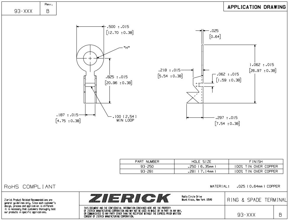 ZIERICK压接端子_连接器93-250_技术应用图