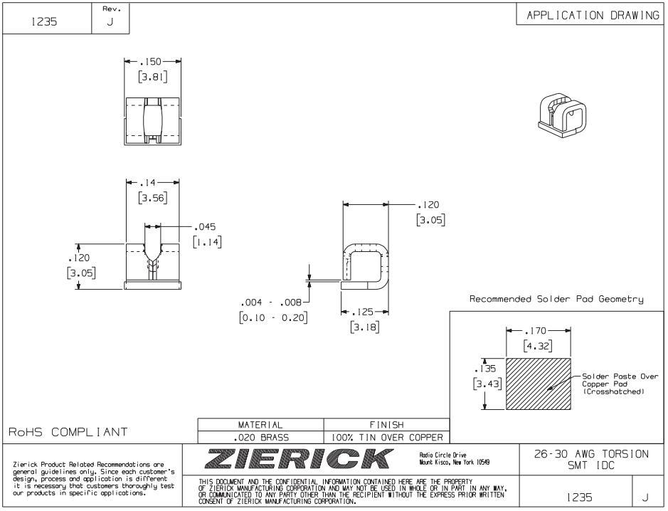 ZIERICK线夹1235_连接器_韦德科技(深圳)有限公司0755-2665 6615