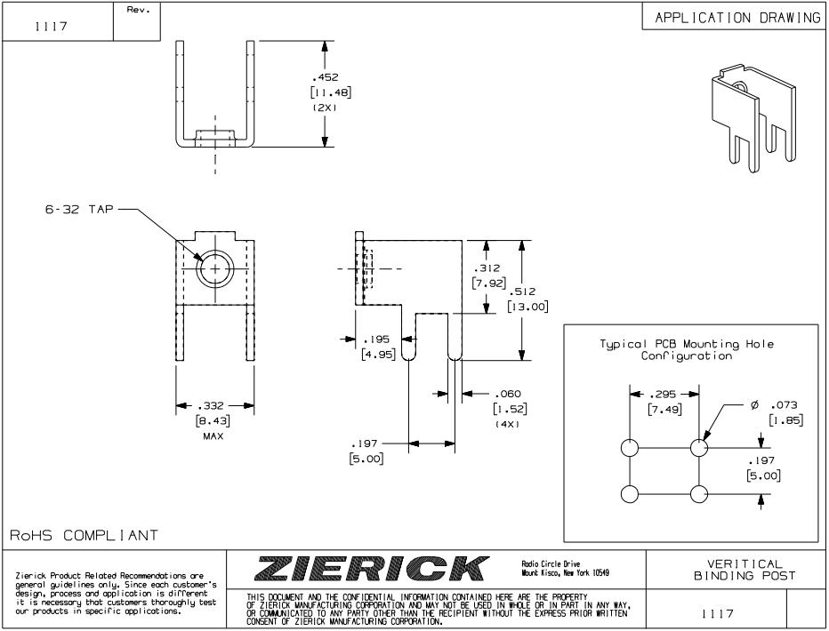 ZIERICK螺丝终端_接线柱1202_连接器_韦德科技(深圳)有限公司0755-2665 6615
