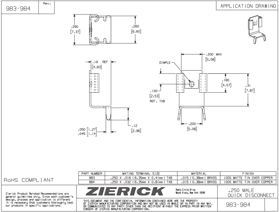 ZIERICK插座_连接器983_韦德科技(深圳)有限公司0755-2665 6615