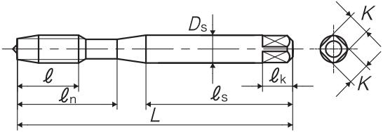 XSL通孔用丝攻M8-1.25螺旋丝攻-韦德科技(深圳)有限公司0755-26656615