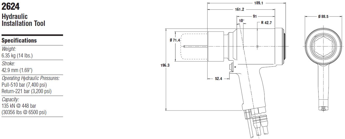 Huck2624液压铆钉枪—韦德科技0755-26656615