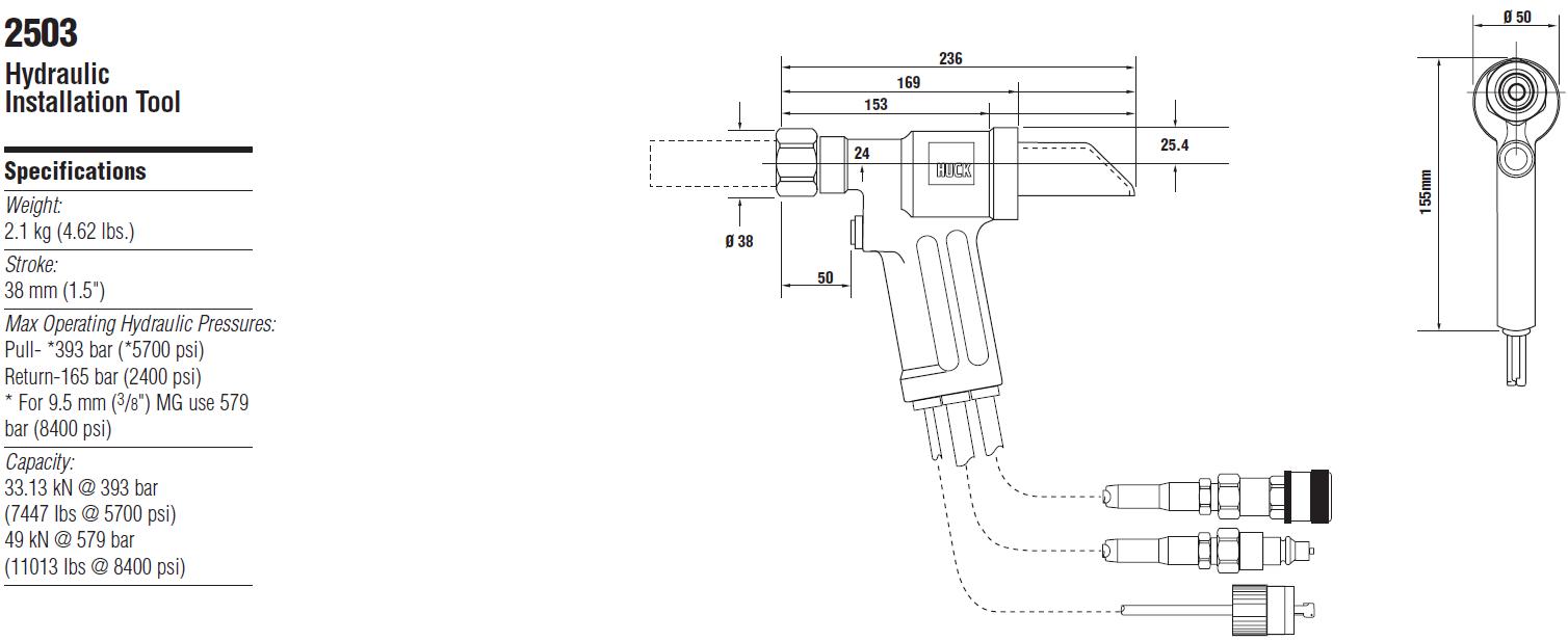 Huck2503液压铆钉枪—韦德科技0755-2665 6615