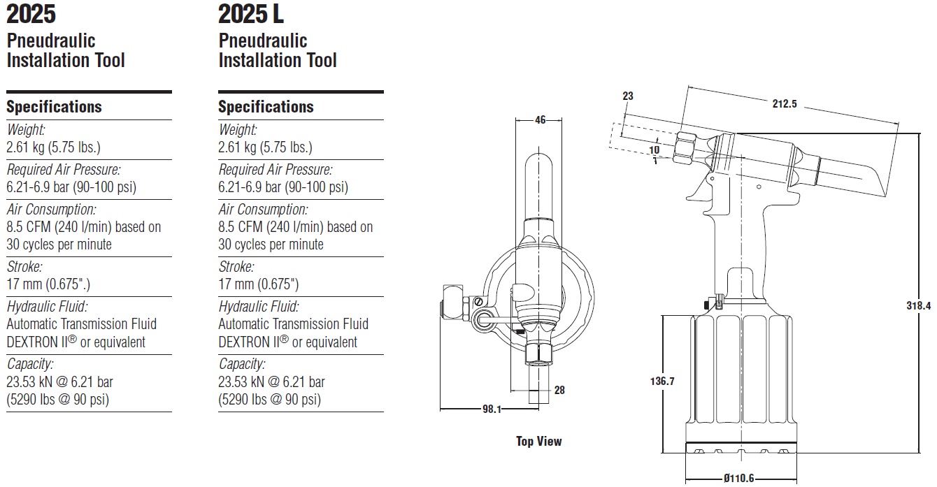 Huck 2025 2025L气动铆钉枪- 韦德科技0755-2665 6615