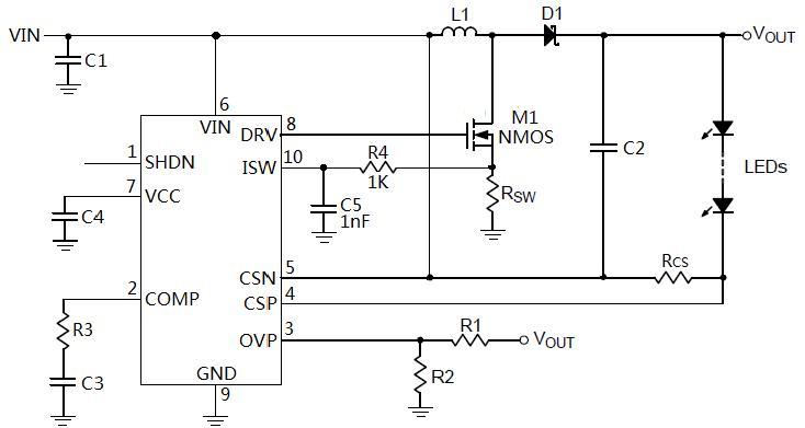 升降压LED驱动电路