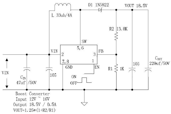 高压大电流升压转换电路