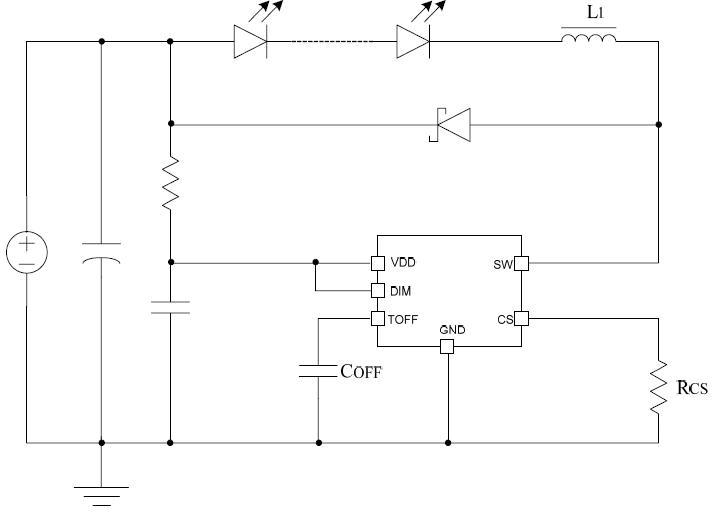 LED电动车灯原理图