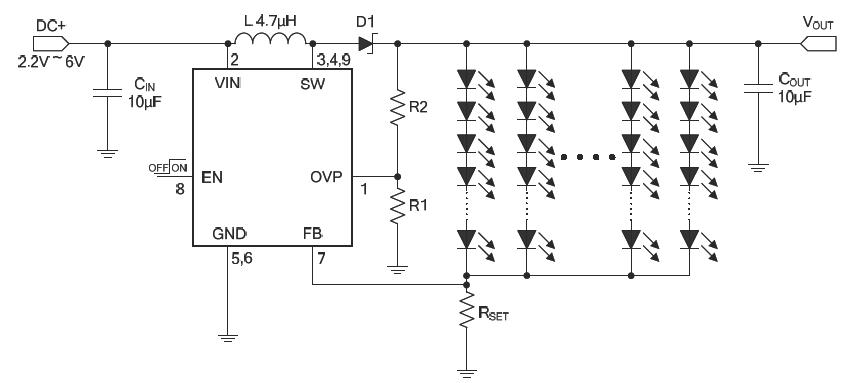 LED背光灯具电路图