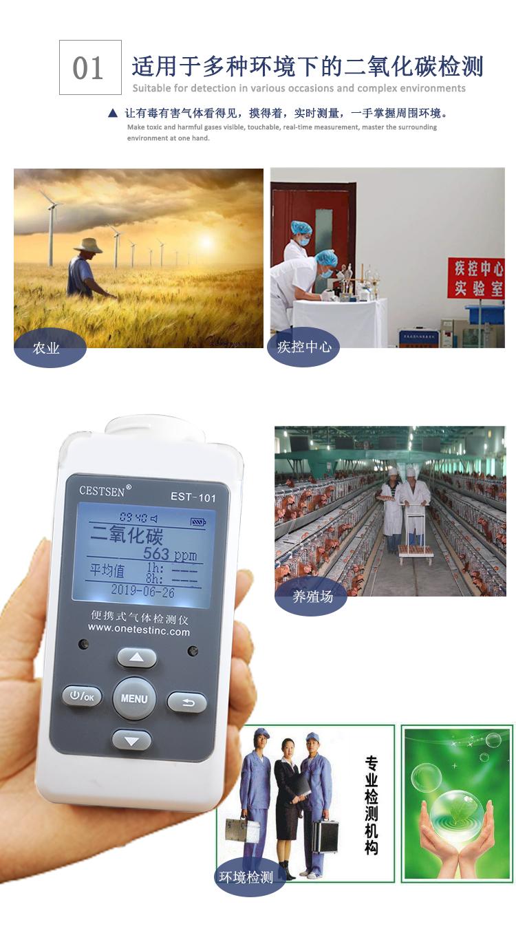 二氧化碳检测仪应用范围