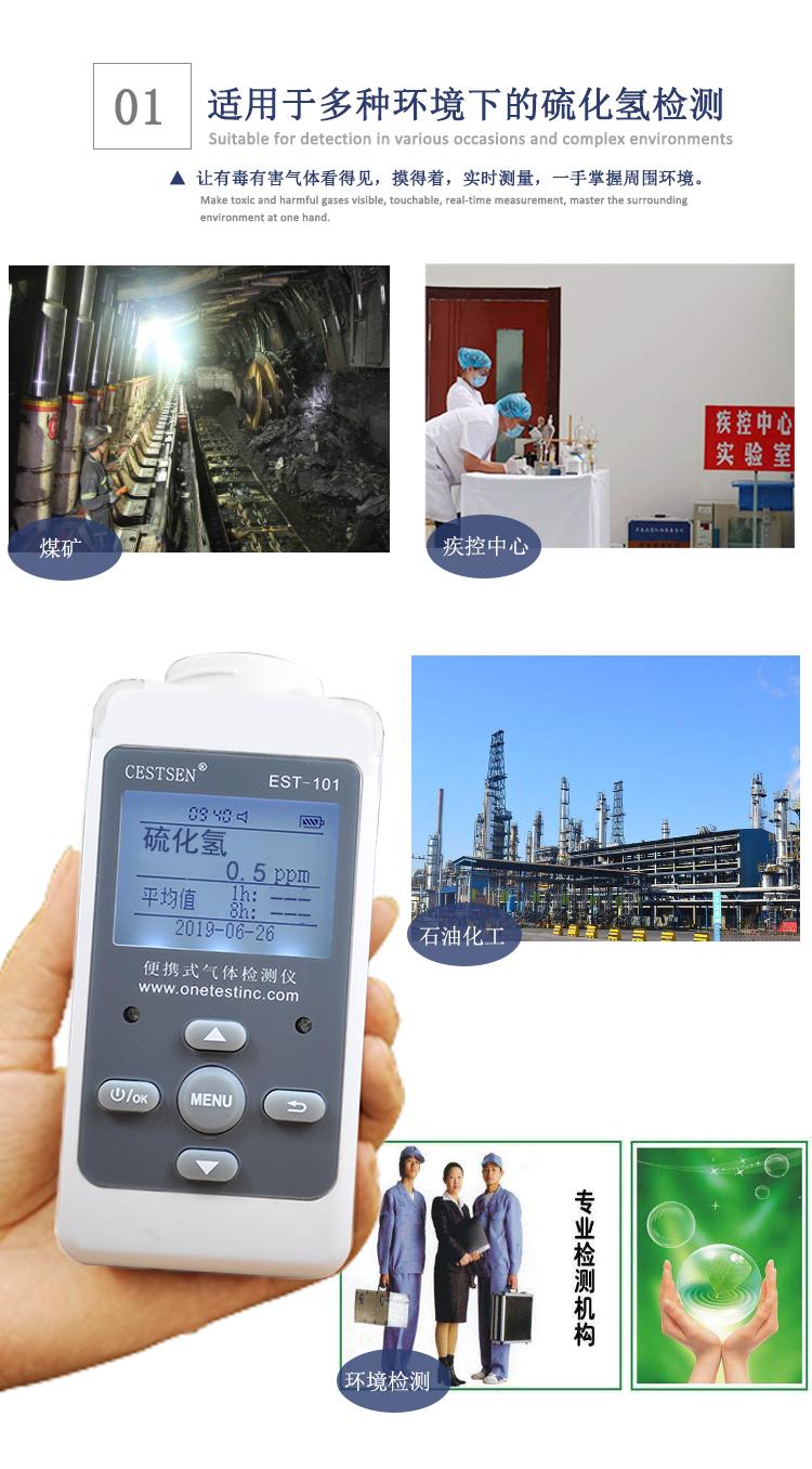 硫化氢检测仪应用范围