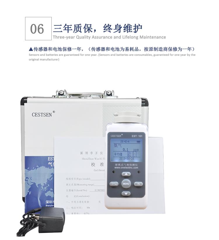 氨气检测仪产品清单