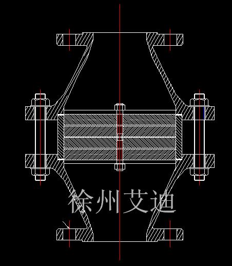GZ-I型管道阻火器CAD图