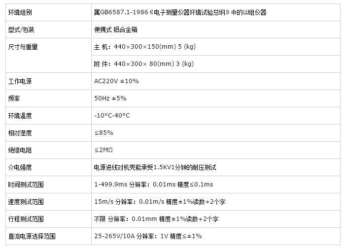 GDKC-6高压开关动特性测试仪技术参数