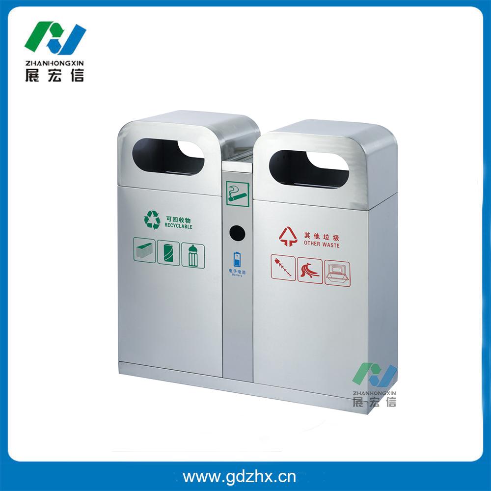 分类环保垃圾桶(砂钢、GPX-102S)