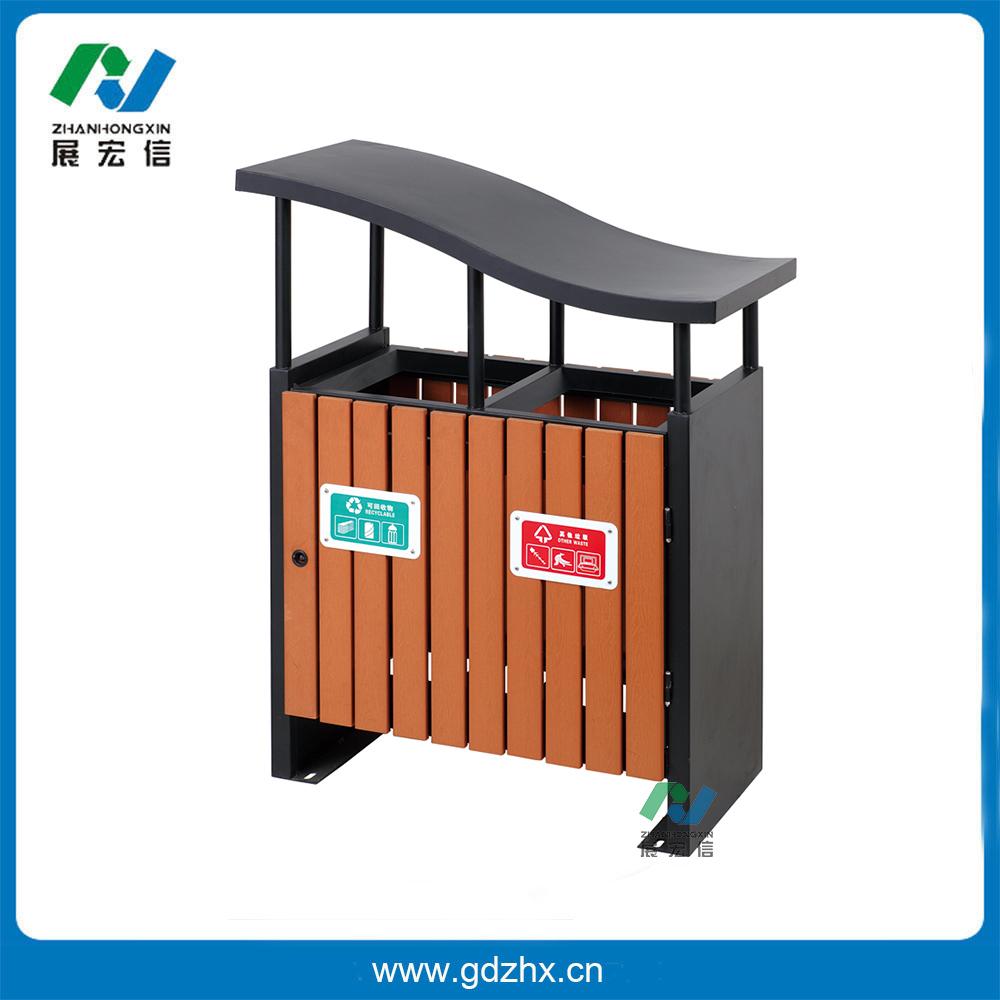 分类环保垃圾桶(咖啡色塑木、GPX-105A)