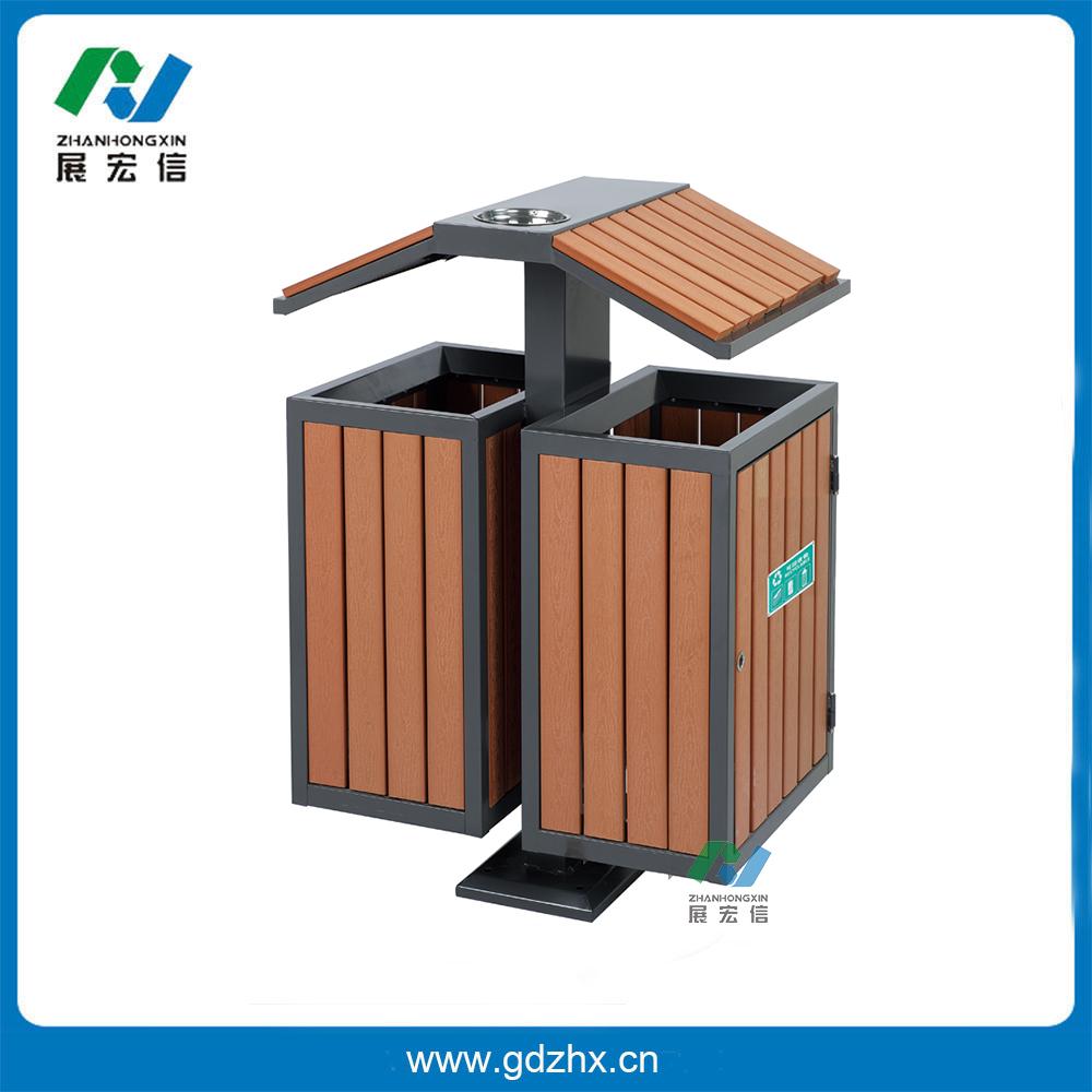 分类环保垃圾桶(塑木、GPX-107S)