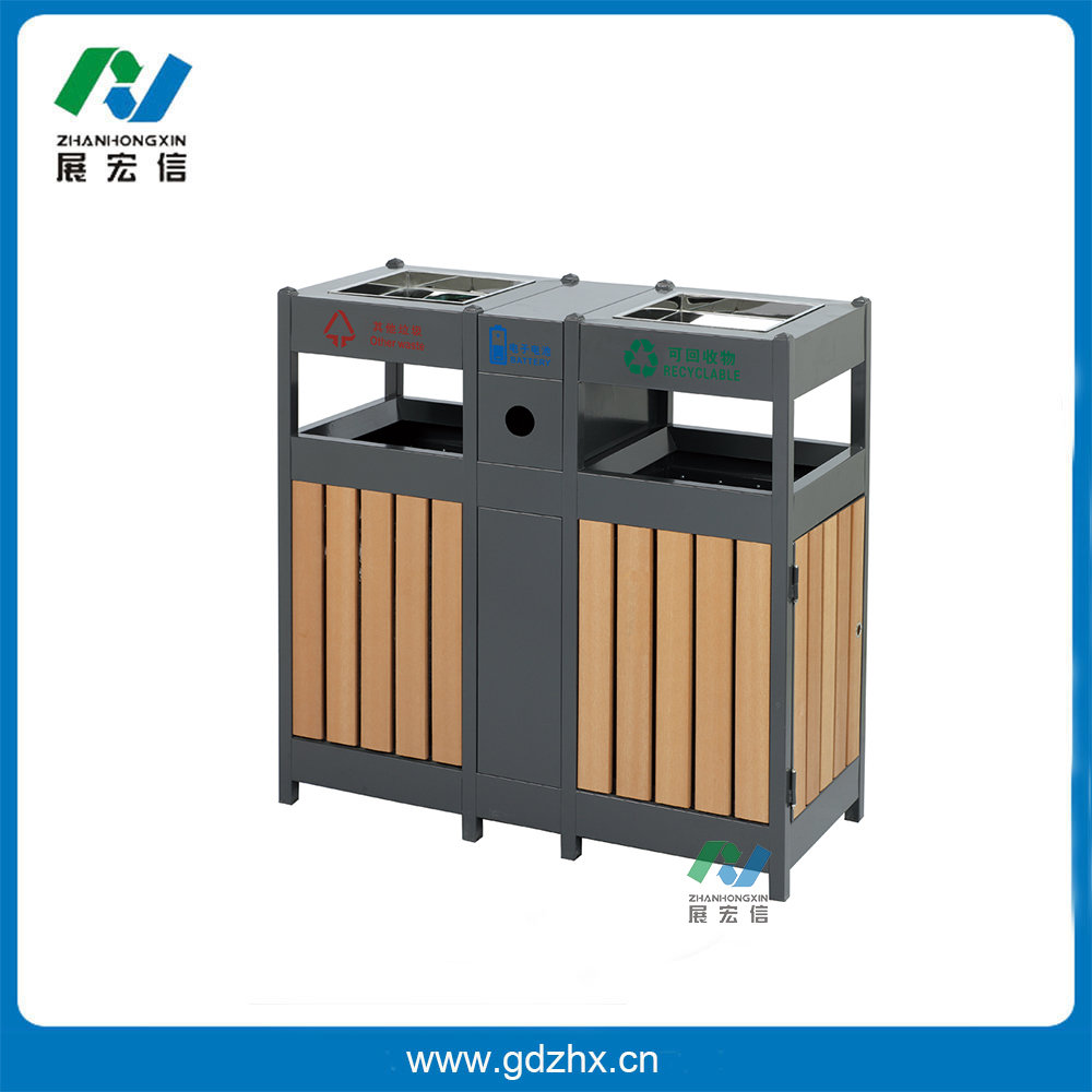 分类环保垃圾桶(塑木、GPX-108S)