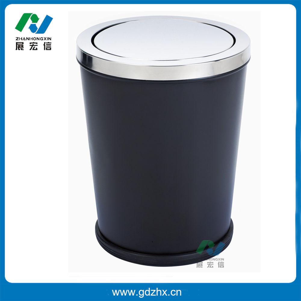 锥形摇盖房间垃圾桶(烤漆、GPX-233A)