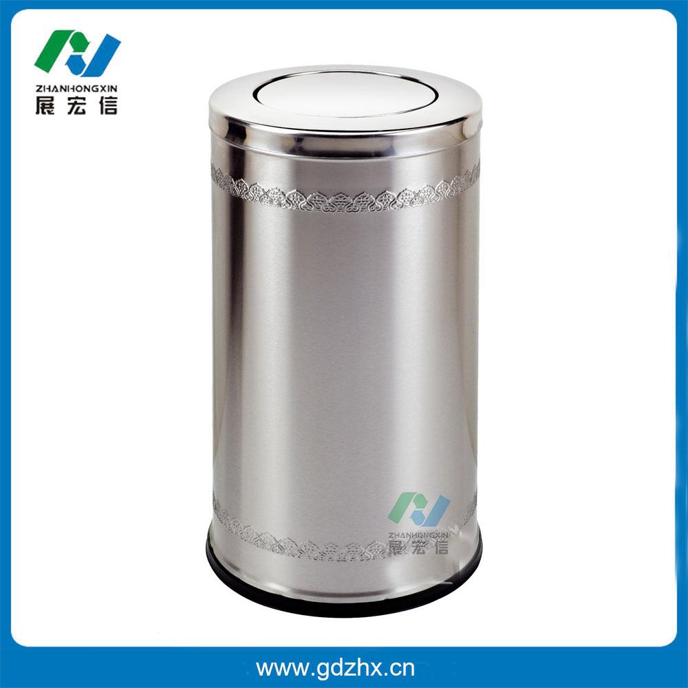 港式浮雕垃圾桶(砂钢、GPX-110P)