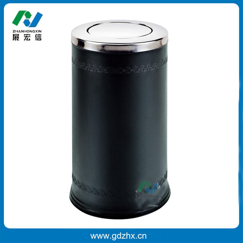 港式浮雕垃圾桶(黑色、GPX-110P)