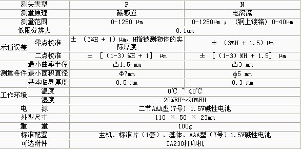 TT210涂层测厚仪(两用型)