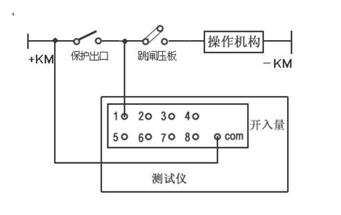 微机继电保护测试仪接线示意图