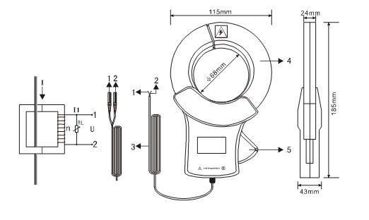 ETCR068B Clamp current sensor
