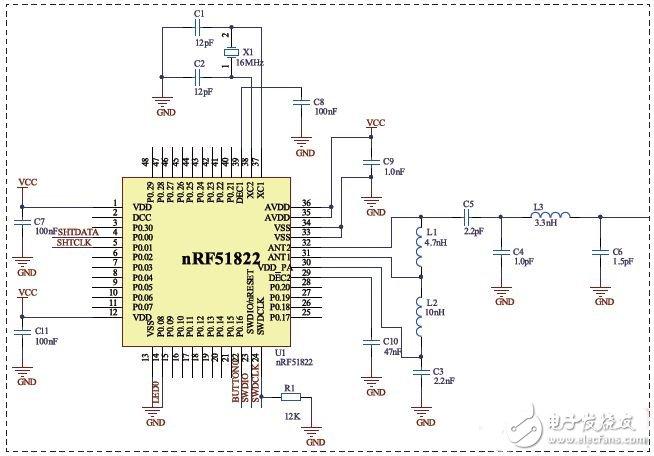 主流蓝牙BLE控制芯片详解(4):Nordic nRF51822