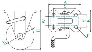 YUEICASTER优越 NRKB-100(R) 树胶脚轮 聚氨酯脚轮