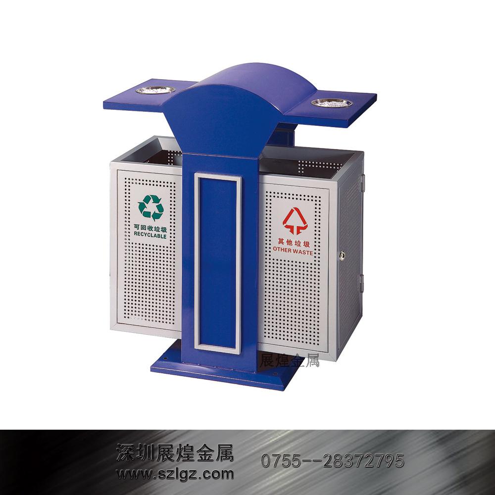 烤漆分类环保垃圾桶