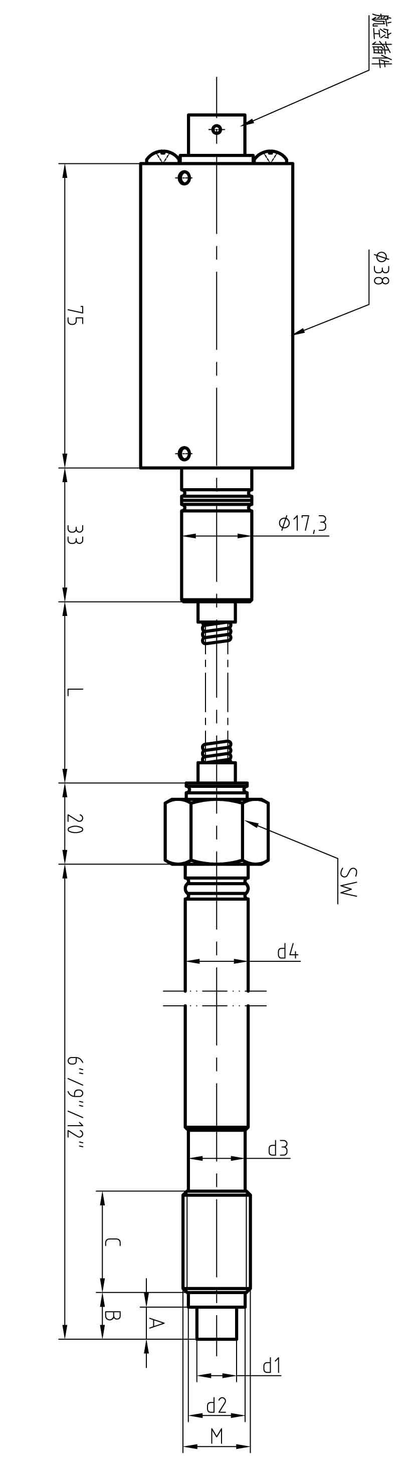 高精度高温熔体压力变送器 直杆型