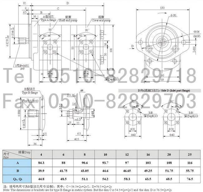 CBK1025-453R,齿轮泵 矿用齿轮泵