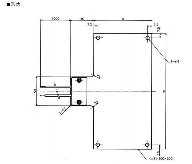 RS1020,高溫面狀發熱體加熱器,高溫加熱器,SAKAGUCHI坂口電熱