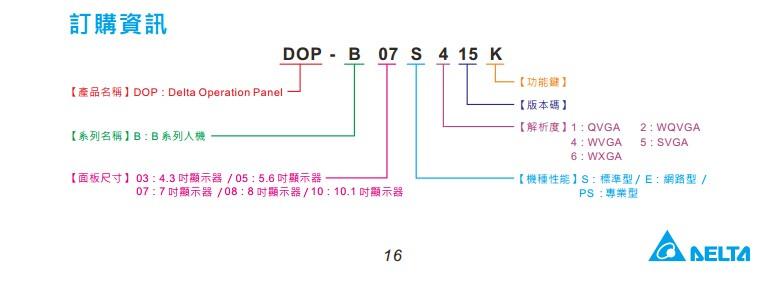 台达触摸屏 DOP-B03S210