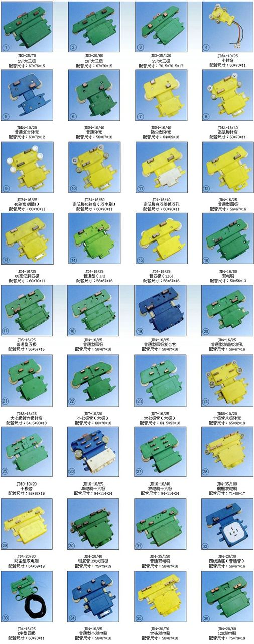 JD16-16/40(双电刷十六极)多极集电器